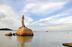 The Statue of fisher girl. You are likely never to have heard of Zhuhai - located in the southwest of Chinas Pearl River delta, Zhuhai is southern Chinas best Royalty Free Stock Photo
