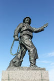 Statue of a fisherman at the harbour in Skagen Stock Photos