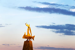 Statue of fisherman Stock Photo