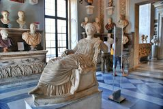 The statue of Flavia julia Helena. Capitoline Museum Royalty Free Stock Photos