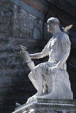 A statue in Florence. Tuscany with dovesrn Stock Photography