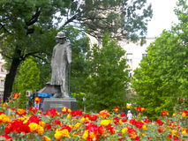 Statue  flower garden park central Belgrade Serbia Europe Stock Images