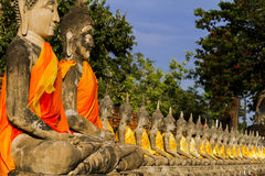 Statue follower of buddha Royalty Free Stock Images