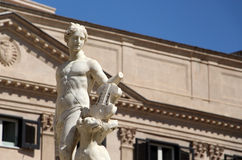 Statue from the fontana della vergogna, palermo Stock Images