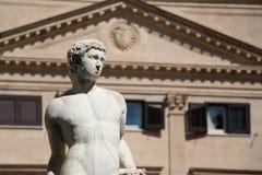 Statue from the fontana della vergogna, palermo. Detail of a statue of the fontana della vergogna, by francesco camilliani, pretoria square palermo, sicily Stock Images