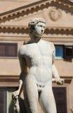 Statue from the fontana della vergogna, palermo. Detail of a statue of the fontana della vergogna, by francesco camilliani, pretoria square palermo, sicily Stock Image