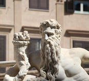 Statue from the fontana della vergogna, palermo Royalty Free Stock Photo