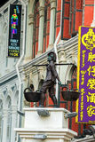 Statue at food street on Chinatown district in Singapore Royalty Free Stock Photos