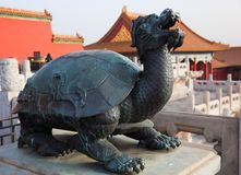 Statue at the Forbidden City. Beijing. China. royalty free stock images