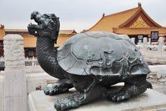 Statue at the Forbidden City. Beijing. China. Stock Photos