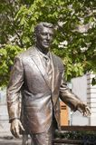 Statue of the former U.S. President Ronald Reagan Royalty Free Stock Photos
