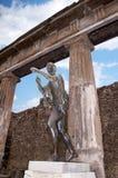 Statue in the Forum in Pompeii Stock Images