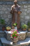 A statue in Forza D`agro in Siciliy royalty free stock photos