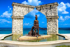 Mexico. A statue found in Cozumel Mexico Royalty Free Stock Images