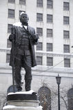 Statue of Founder of Cleveland. Ohio in Downtown During Winter Royalty Free Stock Photos