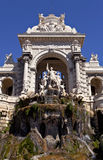 Statue and fountain of Longchamp palace, Marseille Stock Photos