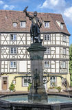 Statue/Fountain at the Petite Venice in Colmar, France Stock Photography