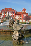 Statue of  the fountain of Troja Palace in Prague, Czech Republic Royalty Free Stock Image
