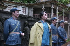 The statue of the four red army leaders in the Red Army Park,shenzhen,china Royalty Free Stock Image