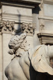 Statue from the Four Rivers Fountain in the Piazza Navona in Rome Royalty Free Stock Photo