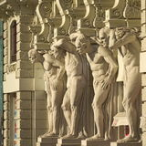 Statue - four strong men Royalty Free Stock Image
