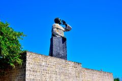 Statue of Fray Anton de Montesinos stock photo