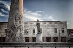 Statue of Francesco Baracca. The memorial to Francesco Baracca in Lugo  in Italy Royalty Free Stock Photography