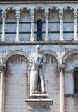 Statue of Francesco Burlamacchi in Lucca Royalty Free Stock Images