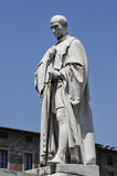 Statue of Francesco Burlamacchi-Piazza San Michele-Lucca Italy Royalty Free Stock Photos