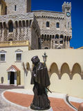 Statue of Francesco Grimaldi in front of Palace of Monaco Royalty Free Stock Photography