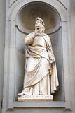 Statue of Francesco Petrarca in Florence, Italy Stock Images