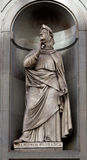 Statue Francesco Petrarca, Uffizi, Florence, Italy Stock Image