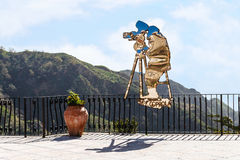 Statue of Francis Ford Coppola in Sicily Stock Image