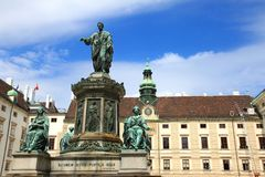 Statue of Francis II, Holy Roman Emperor, Vienna Stock Images