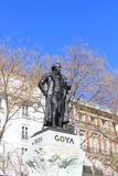 Statue of Francisco de Goya, Spanish painter and artist in Madrid, outside Prado museum art Stock Images