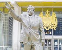 Statue of Frank Rizzo Hero-Villain Mayor in Philadelphia - PHILADELPHIA - PENNSYLVANIA - APRIL 6, 2017 Stock Photo