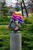 Statue Frantisek - Attribute of the spa town Frantiskovy Lazne - Czech Republic Stock Photography