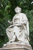 Statue of Franz Schubert, Vienna, Austria. The marmor statue of the great musician Franz Schubert in the city park, Vienna, Austria built in 1872 royalty free stock photography