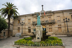 Statue of Fray Salvado in Tui, Galicia, Spain Stock Photography