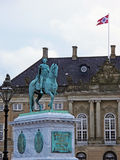 Statue of Frederick V at the Amalienborg Palace Square Royalty Free Stock Images