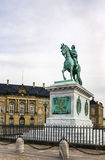 Statue of Frederick V, Copenhagen Stock Photos