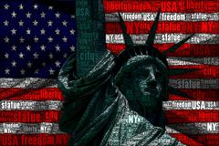 Statue of the freedom Stock Images