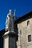 Statue of Freedom. Before Pablico Palazzo. San Marino Royalty Free Stock Images