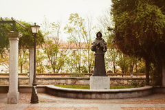 Statue of a friar Royalty Free Stock Images