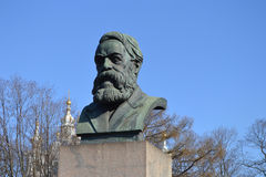 Statue of Friedrich Engels in St.Petersburg Stock Images