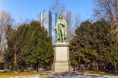 Statue of Friedrich Schiller in Frankfurt Royalty Free Stock Photo