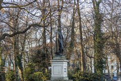 Statue of Friedrich von SChiller at the Maximiliansplatz in Muni Stock Images