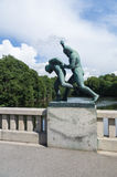 Statue in Frogner park, Oslo, Norway Royalty Free Stock Image
