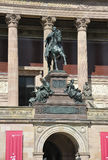 Statue front of Alte National Galerie from Berlin in Germany Royalty Free Stock Photo