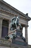 Statue front of Alte National Galerie from Berlin in Germany stock images